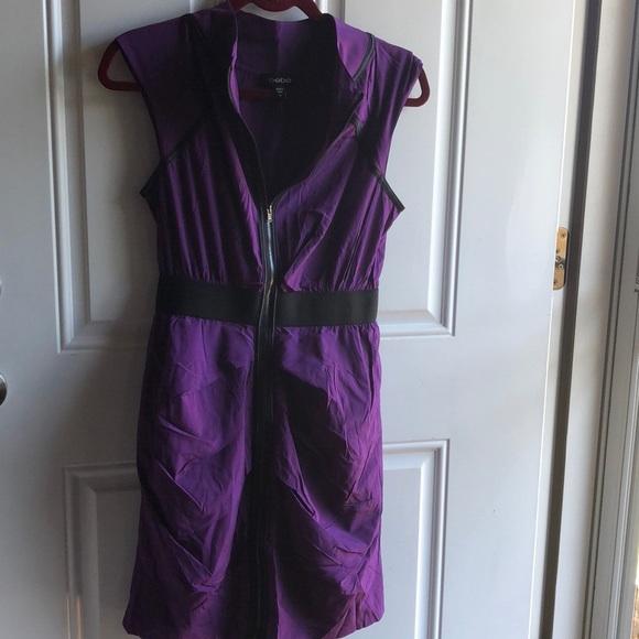 bebe Dresses & Skirts - Purple Bebe Zipup Dress
